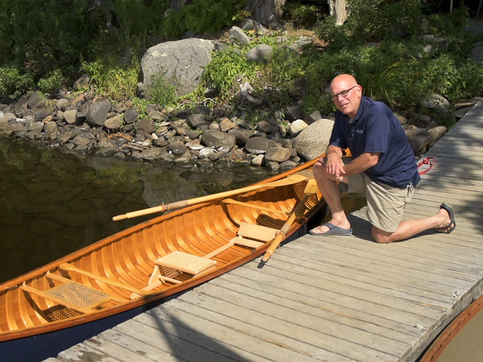 Setting up a canoe for Rowing, Shaw & Tenney