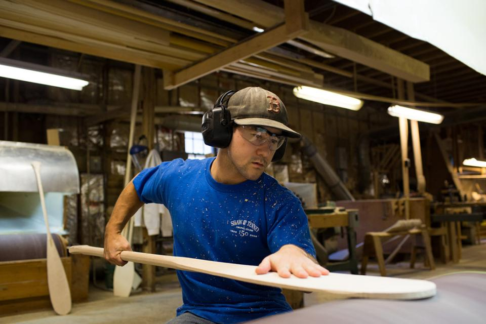 The Making Of A Shaw & Tenney Wooden Canoe Paddle